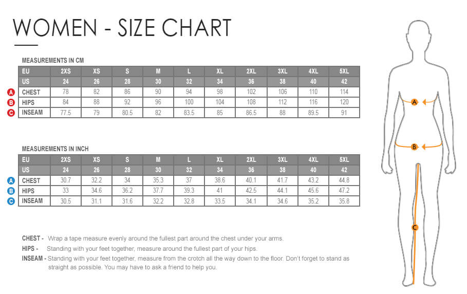 table sizes