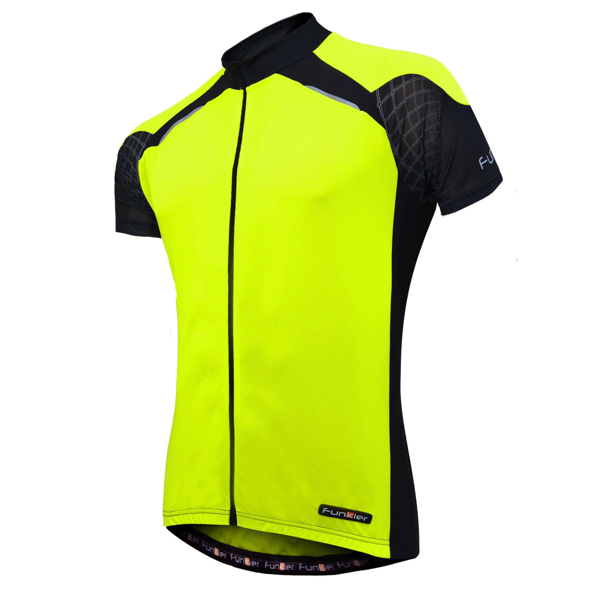 Funkier Women's Cycling Short Sleeve Jersey Full Zipper WJ-730-1 Summer Fabric